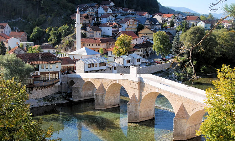Konjic - The famous for 17th century 6-arch Old Bridge
